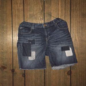 Patchwork Jean Shorts